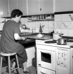 En vild från ett kök på 1960-talet.