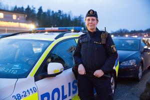 Sandra Pettersson berättar att Nykvarn är ett trevligt område att patrullera i.