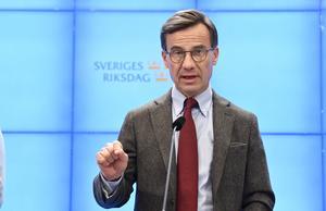 Ulf Kristersson, Moderaternas partiledare. Foto: Jessica Gow/TT