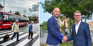 Diskussionen kring anropsstyrd kollektivtrafik har pågått en längre tid. Om drygt två år verkställs planerna. Foto: Arkiv och Ellinor Gotby Eriksson.