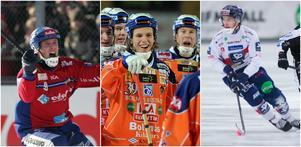 Några av spelarna på listan: Patrik Rönnkvist, Linus Forslund och Tuomas Määttä.