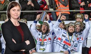 Sportens Jessica Eriksson bevittnade Edsbyns elfte SM-guld på Studenternas, men det är inte finalen i sig hon minns starkast. Foto: Janerik Henriksson / TT (Bilden är ett montage)