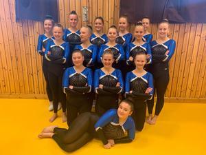 Det blev dubbla guld för GymnastikKompaniet/Mevalin i Huddinge