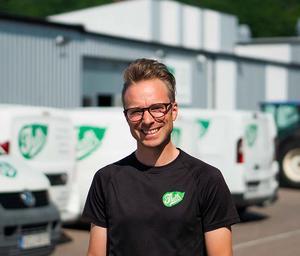 Henrik Thell berättar hur hans företag har växt.