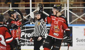 Axel Svensson gjorde ett av HHC:s mål i förlustmatchen.