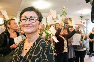 Marlene Terrell, socialchef i Nynäshamn, var glad för drottning Silvias besök på Lotsen.