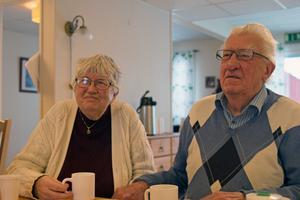 Lillevor Lindberg och Ingvar Sjökvist  på Seniorgårdens invigning.