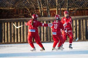 Söråker jublar efter ett av målen från förra säsongen.