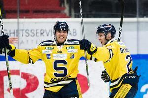 Lucas Carlsson avgjorde matchen för SSK – men först efter förlängning. Foto: Kenta Jönsson / Bildbyrån