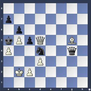 Lösning: 1.Ld2+ Kxa4 2.Dc4