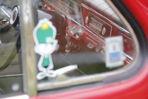 Det nostalgiska klistermärket från BP matchar nyckelringen.