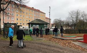 Lions Club Gävle Norra träffades i Stenebergsparken. Foto: Privat