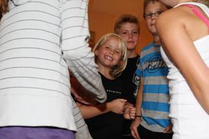 Sjuåriga Malva Zackrisson från Sveg är en av deltagarna i teaterskolan.