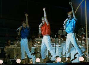 Arkivbild från Melodifestivalen 1984 när gruppen Herreys tävlade med låten 'Diggiloo diggilej'.