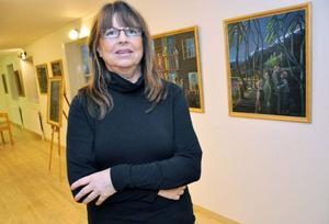 Eva Jonsson, 60, har inte ställt ut sin konst på 30 år. När hon äntligen gjorde det på Kulturhuset i Järpen förra veckan var besökarna mycket imponerade.