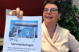 Annika Hansson hoppas att många ska ta på sig skidorna och besöka Tjärnmyråsstugan i vinter.