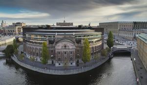 Riksdagshuset i Stockholm. Foto: Jonas Ekströmer/TT