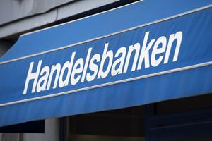 Handelsbanken, en bank. Foto: Henrik Montgomery / TT.