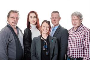 Jorma Keskitalo, Nathalie Pace-Solar, Pernilla Marberg, Stefan Johansson och Gerry Milton är de fem namn som Sverigedemokraterna vill ha in i kommunfullmäktige i Lekeberg.Foto: Privat