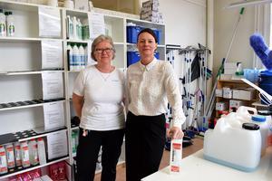 Katarina Hedlund och Susanne Moffat på Homemaid berättar om frustrationen hos både dem och kunderna över kalkavlagringarna som bildas av vattnet.
