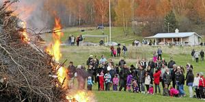 Valborgsfirande i Stora Vika.