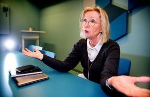 Näringslivsdirektören Eva Lilja ser mycket positivt på arbetet med att utveckla Finnslätten till en levande stadsdel.