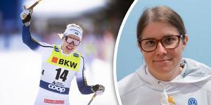 Ida Ingemarsdotter är vikarierande tränare för landslagsgruppen som Linn Svahn tillhör. Foto: TT (Montage)