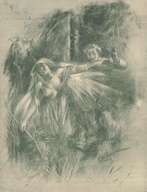 Skogsrået i en teckning av Carl Larsson från 1887.