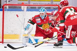 Janne Juvonen vaktar Moras mål igen. Foto: Daniel Eriksson/Bildbyrån