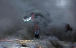 Våldsamma protester i Gaza efter att USA flyttat sin ambassad till Jersualem. Foto:  AP/TT