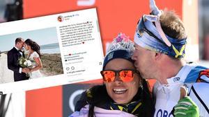 Anna Haag och Emil Jönsson är nu gifta – som paret Jönsson Haag. Foto: TT/Instagram (Montage).