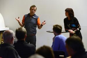 Dan och Gunilla Thornberg berättade om sina planer för området vid ett offentligt möte förra måndagen.