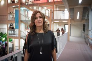 Eva Nyh Hederberg vill inte kommentera huruvida hon är med i diskussionerna om vd-posten på Näringslivsbolaget.