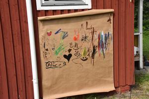 Konstverk skapat av barnen i Kubbe.