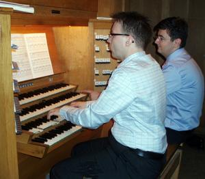 Belönad organist. Gagnsingen Martin Lindman har belönats vid Kungliga musikhögskolan i Stockholm för sina utmärkande prestationer under studietiden. Foto:Privat