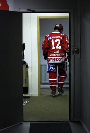 Från den sista matchen i Timråtröjan.