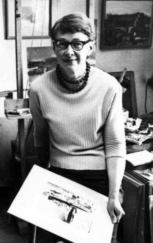 ENSAM. May Östberg var den enda kvinnan bland grabbarna i Brynäsgruppen.