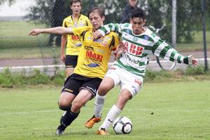 Diego Montiel för VSK Fotbolls juniorer.