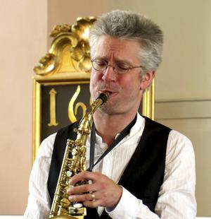 Saxofonisten Stefan Larsson var solist i Harlem nocturne.