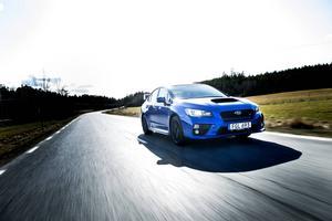 Subaru Norden har utsett 2014 till Körglädjens år och passar på att lansera sin starkaste motor hittills i nya Subaru WRX STI.    Foto: Pontus Lundahl/TT