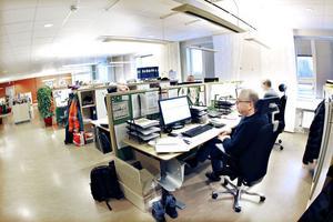 Här sitter Green Cargos arbetsledare och planerare i Gävle. Även anställda som har andra placeringsorter, men som bor i Gävle, kan sitta här och jobba vissa dagar för att minska sin pendlingstid.