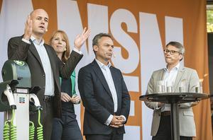 Statsminister Fredrik Reinfeldt (M) lämnade stor plats till sina Alliansvänner.