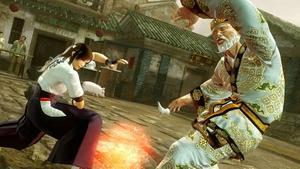 Tekken 6 bygger precis som tidigare spel mest på anfall. Det handlar inte bara om att trycka snabbt på handkontrollens knappar utan även att vara taktisk. Foto: Namco bandai