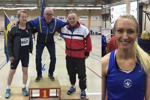 Mats Höglund, dubbel guldmedaljör på veteran-SM 20216 (60 m och 200 m) samt Isabell Eurenius, bronstjej på 60 meter damsenior.