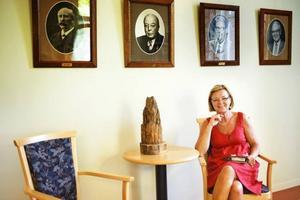 Katarina Åkersten, Borgarskolans nya rektor, är på plats. Hon är den första kvinnliga rektorn på skolan.