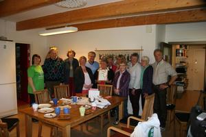 Från vänster i bild: Eva-Lena Blom, Mårdsund, Perry Ahlgren, Gudrun Ahlgren, Jenny Haugskott, Håkan Larsson, Rödön, Ingrid Olsson, Skärvången, Gullan Johansson, Maria Söderberg, Rödön, Irène Fregelin, Frösön, Margareta Runnsäter, Gullan Eliasson och Gunnar Hellström, Aspås.