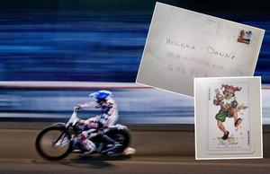 Speedwaysåpan rullar vidare. Helena Dannö fick ta emot ett brev med en joker i. Brevet är nu polisanmält.