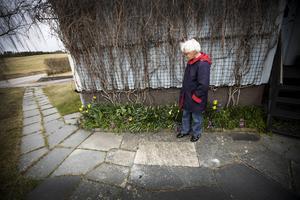 Sedan 1952 har Karin Andersson bott i huset i Gåije.   – Jag har så goda vänner och grannar här, säger hon.