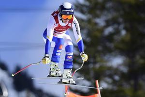 Kajsa Kling, åre, slutade på 13:e plats i VC-störtloppet.