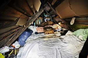 Här sover Lacramioara och hennes föräldrar.